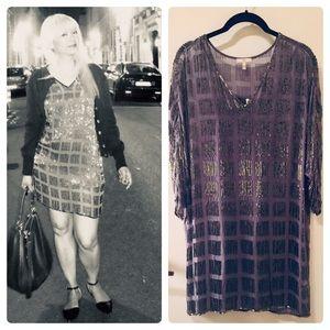 Joie Beaded Dolman sleeve Shift dress